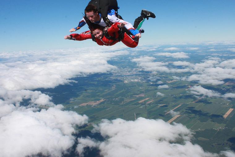 saut en parachute respiration