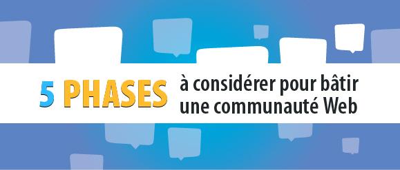 5 phases à considérer pour bâtir une communauté Web